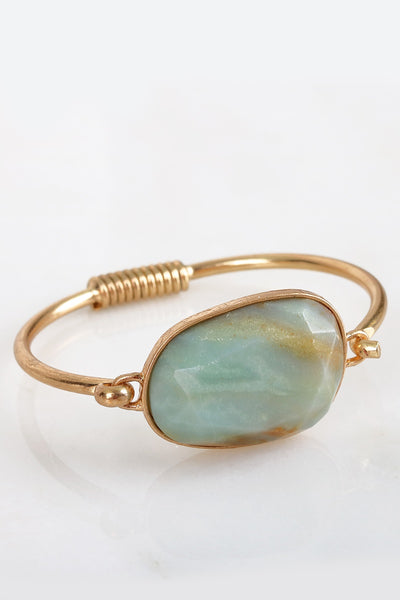Stone hook and Loop Bracelet
