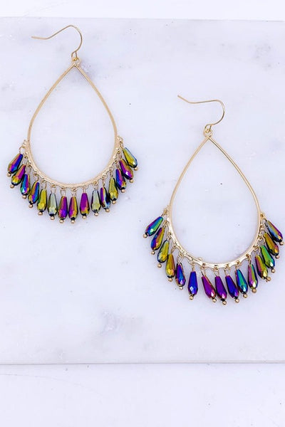 Faceted Glass Beaded Earrings