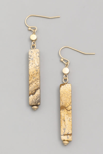 Bar Drop Stone earings