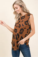 Tawny sleeveless top