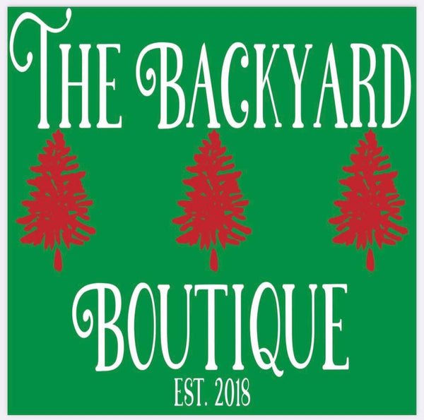 Backyard Boutique Holiday tee