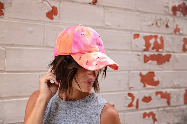 Tie Dye distressed hats