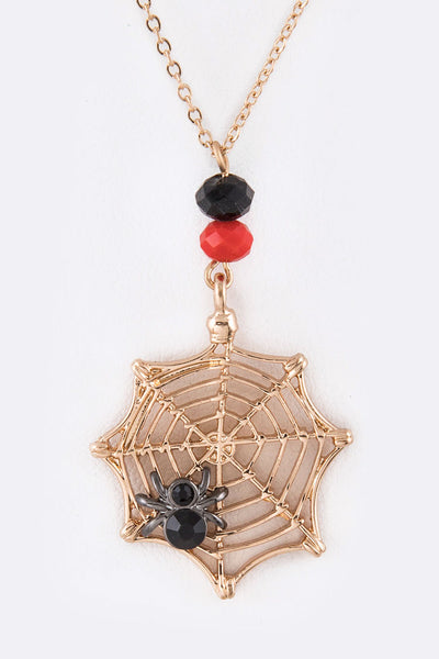 Spider Halloween Pendant Necklace