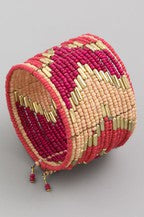 Pink Tribal Bangle