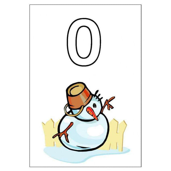 0-10 Snowman Cards:Primary Classroom Resources