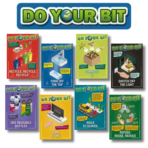 Going Green: Do Your Bit Classroom Display Poster Set:Primary Classroom Resources