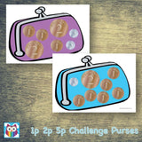 1p 2p 5p Challenge Purses:Primary Classroom Resources