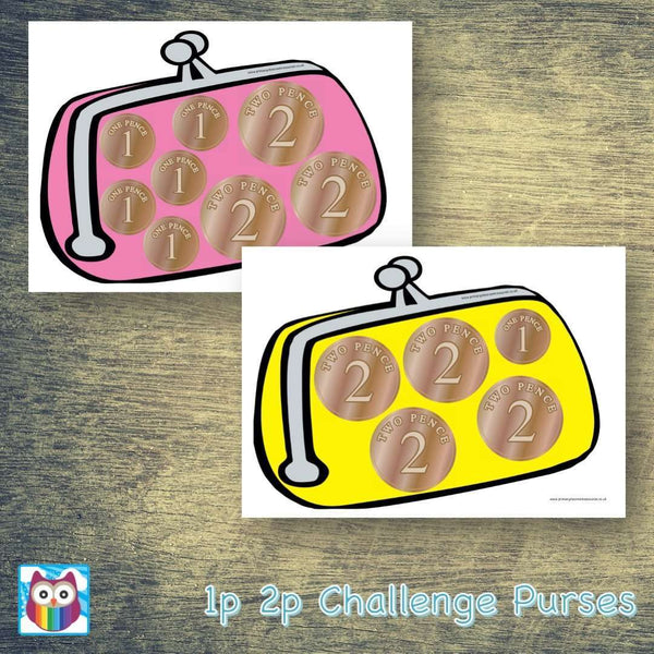 1p 2p Challenge Purses:Primary Classroom Resources