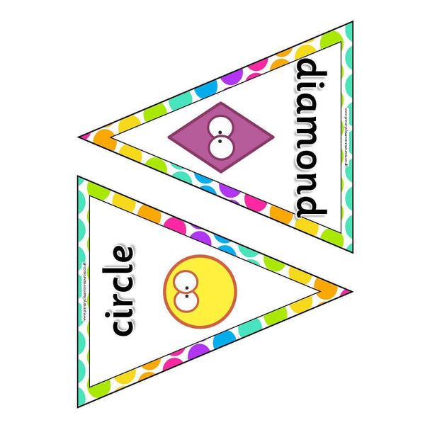 2D Shapes Bunting:Primary Classroom Resources