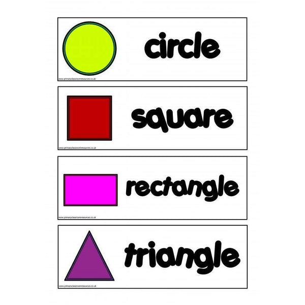 2D Shapes Flashcards:Primary Classroom Resources