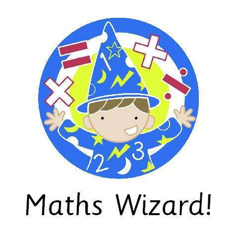 4cm Square Marking Stickers - Maths Wizard!:Primary Classroom Resources