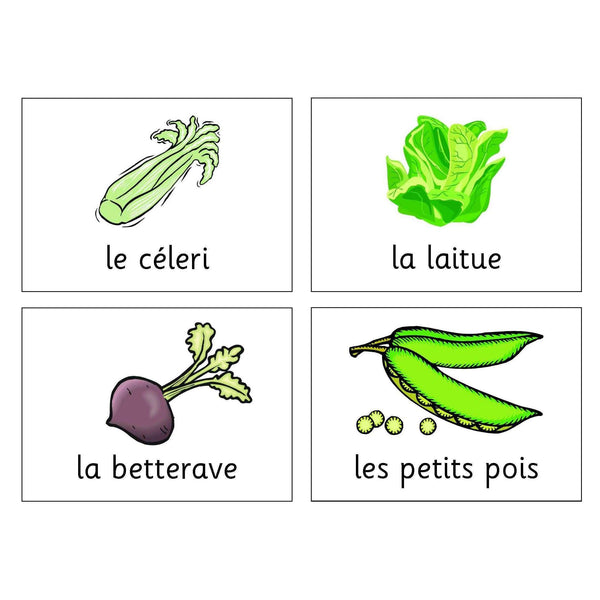 French Vegetables Cards