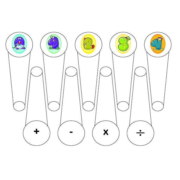 Number Characters Fan:Primary Classroom Resources