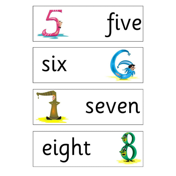 Numbers Flashcards:Primary Classroom Resources