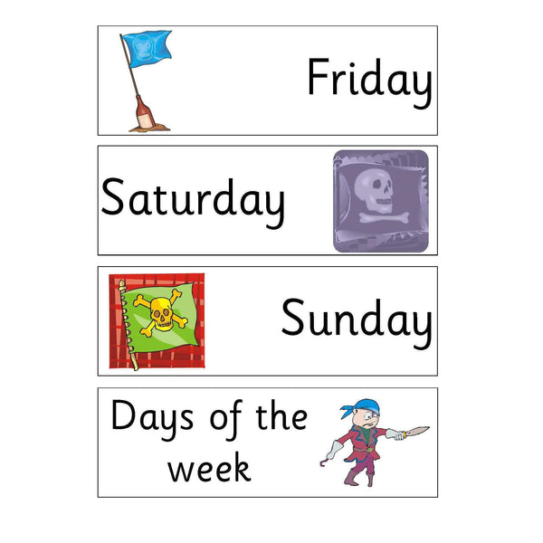 Pirates Day Months and Numbers:Primary Classroom Resources