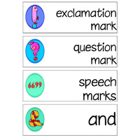 Punctuation Labels:Primary Classroom Resources