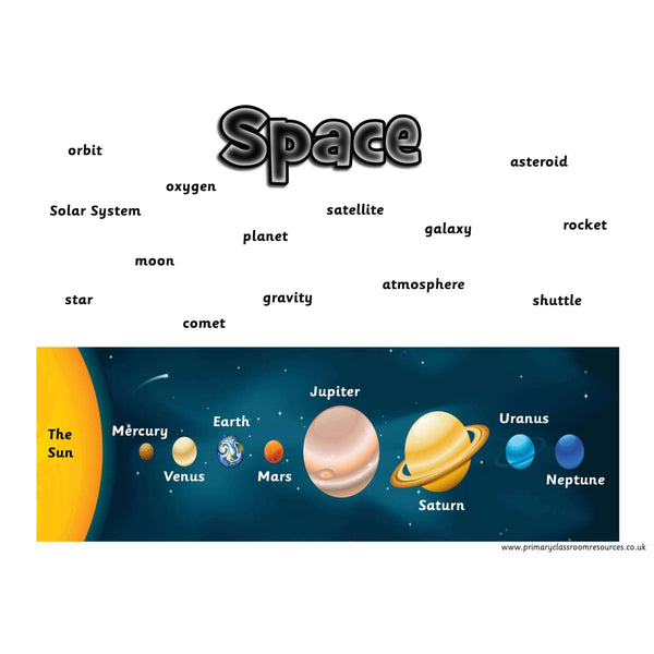 Space Vocabulary Mat:Primary Classroom Resources