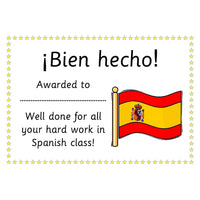 Spanish Certificates:Primary Classroom Resources