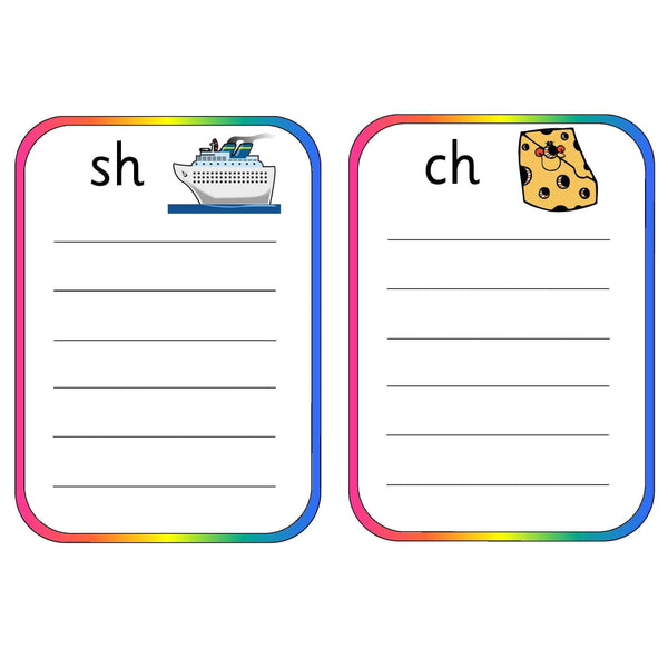 Spelling Pocket Lists Consonant Digraphs:Primary Classroom Resources