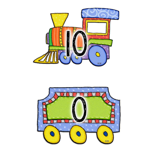 Number Bonds to 10 Matching Trains