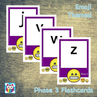 Emoji Themed Phase 3 Phonemes (large):Primary Classroom Resources
