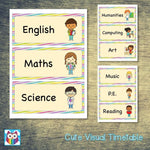 Cute Visual Timetable:Primary Classroom Resources