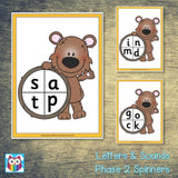 Letters and Sounds Phase 2 Spinners:Primary Classroom Resources