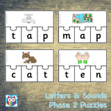 Letters and Sounds Phase 2 Puzzles:Primary Classroom Resources