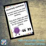 Alien Punctuation Poster - Inverted Commas:Primary Classroom Resources