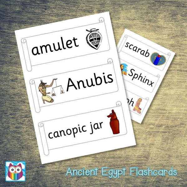 Ancient Egypt Classroom Flashcards:Primary Classroom Resources