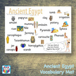 Ancient Egypt Vocabulary Help Mat:Primary Classroom Resources