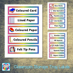 Classroom Storage Tray Labels:Primary Classroom Resources