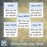 Contractions Loop Cards:Primary Classroom Resources