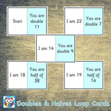 Doubles and Halves Loop Cards:Primary Classroom Resources,Digital download
