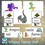 Dragons Display Pack:Primary Classroom Resources,Digital download