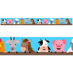 Farm Friends Faces Classroom Display Border:Primary Classroom Resources