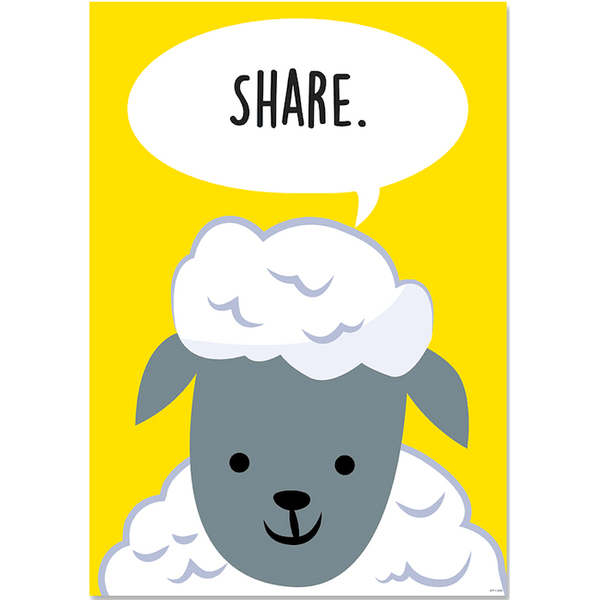 Share Farm Friends Inspire U Classroom Display Poster:Primary Classroom Resources