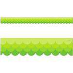 Painted Palette Ombre Lime Green Scalloped Classroom Display Border:Primary Classroom Resources