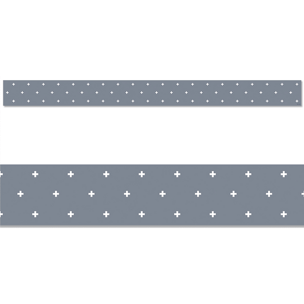 Calm & Cool Swiss Cross Classroom Display Border:Primary Classroom Resources
