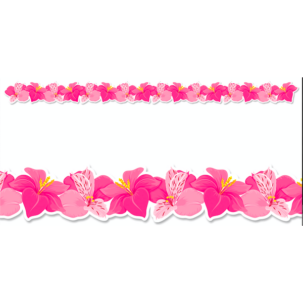 Pink Blooms Classroom Display Border:Primary Classroom Resources