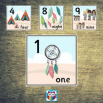 Tribal Themed Number Cards