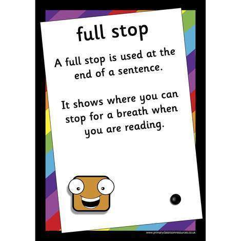 A3 Laminated - Funky Punctuation Posters:Primary Classroom Resources