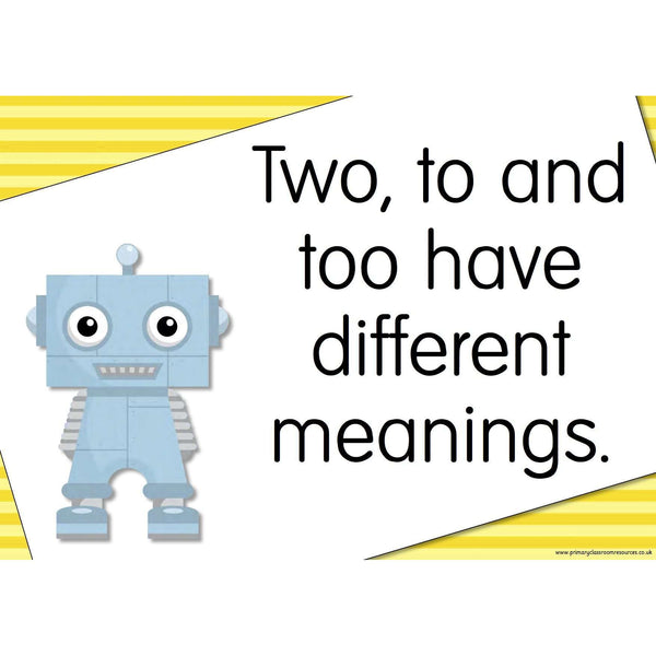 A3 Laminated - The GrammarBots Posters:Primary Classroom Resources