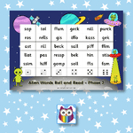 Alien Words Roll and Read - Letters and Sounds Phase 2