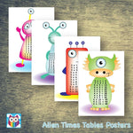 Aliens Times Tables Posters:Primary Classroom Resources