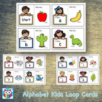 Alphabet Kids Loop Cards:Primary Classroom Resources