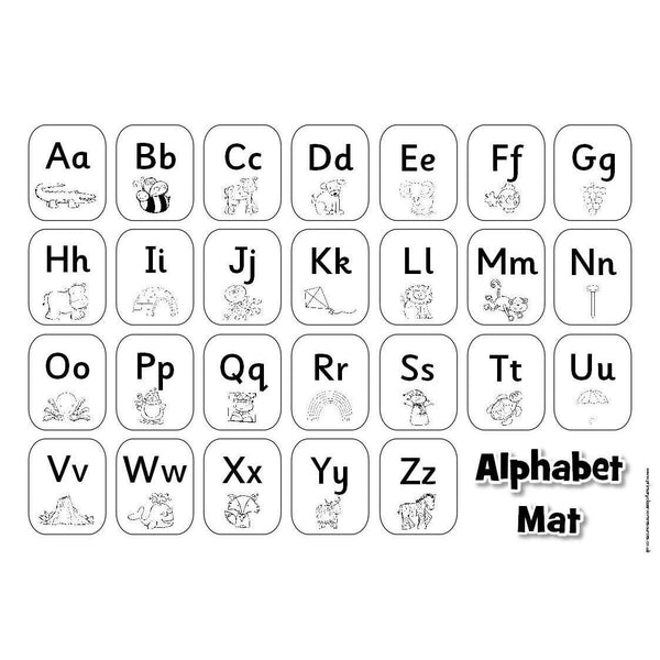 Alphabet Mat (Black and White):Primary Classroom Resources