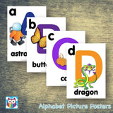 Alphabet Picture Posters:Primary Classroom Resources