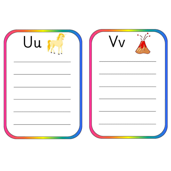 Alphabet Spelling Pocket Lists:Primary Classroom Resources