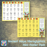 Ancient Maya Hieroglyphics Mini Poster Pack:Primary Classroom Resources